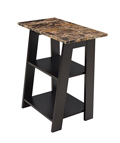 Simmons Upholstery & Casegoods 7101-41 Tiered Chairside Table Merlot (Merlot Tables Nesting)