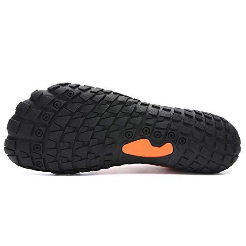 e2ac7fa1cf61f4 Piscine Sechage Et Ete Orange Chaussons Sandales Homme Aquatiques Plage  D'eau Rapide Chaussures Aonetiger Femme ...
