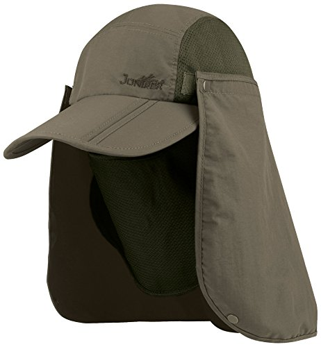 (Juniper Taslon UV Folding Bill Cap, One Size, Olive)