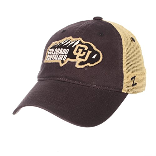 (Zephyr NCAA Colorado Buffaloes Men's Freeway Relaxed Cap, Adjustable, Team Color)