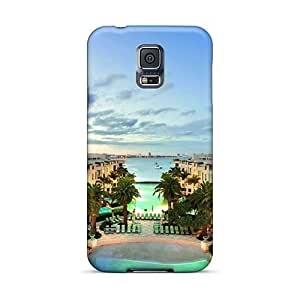 Protective Hard Phone Cases For Samsung Galaxy S5 With Customized Fashion Palazzo Versace Gold Coast Skin EricHowe