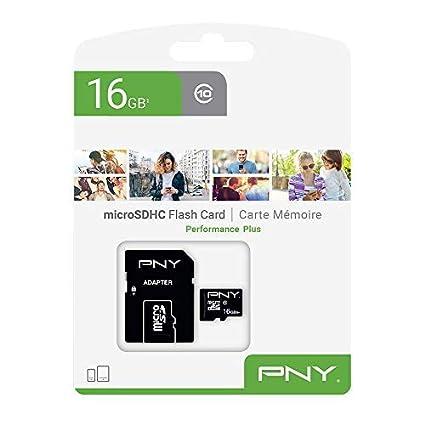 PNY Performance Plus Memoria Flash 16 GB MicroSDHC Clase 10 - Tarjeta de Memoria (16 GB, MicroSDHC, Clase 10, Negro)
