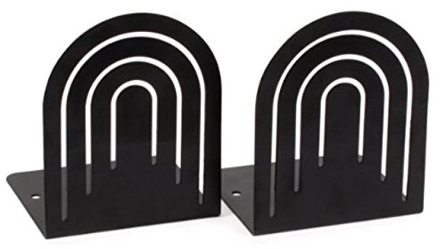 Spectrum Large Arch Bookends - Color: Black - 2 Pairs