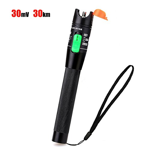 - Optical Fiber Visual Fault Locator Fiber Optic Cable Tester Meter Red Light Pen 30mW with 2.5mm Universal Connector for FC/SC / ST Connector