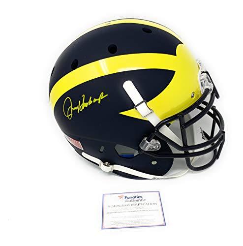 Wolverine Autograph - Jim Harbaugh Michigan Wolverines Signed Autograph Authentic On Field Proline Full Size Helmet Fanatics Authentic Certified