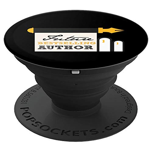 Funny Future Best Selling Author Writer Librarian Book Gift PopSockets Grip and Stand for Phones and Tablets