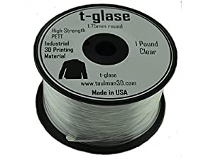 1.75mm Taulman Clear T-Glase 1lb (.45kg) 3D Printer Filament from Taulman3D