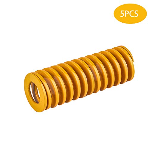 5PCS 10mm OD 20mm Long Light Load Compression Mould Die Spring Yellow