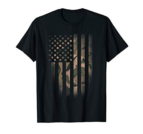 - Camo American Flag T-shirt Usa Military Tactical Camouflage