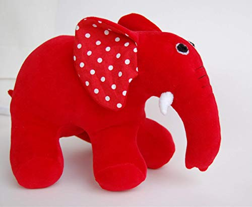 Max And Ruby Toys, Red Rubber Elephant, Plush