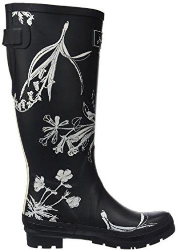 Joules Womens Wellyprint Rain Boot Nero Botanico