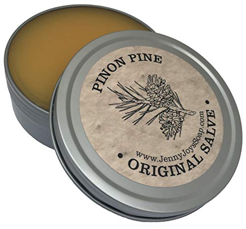 (Pinon Pine Drawing Salve 4 oz Natural Antibacterial Healing Balm of Southwest. Uses: Minor Burns, Psoriasis, Eczema, Beard, Drawing Salve, Infections, Dry Skin from Arizona by Jenny Joy's Soap)