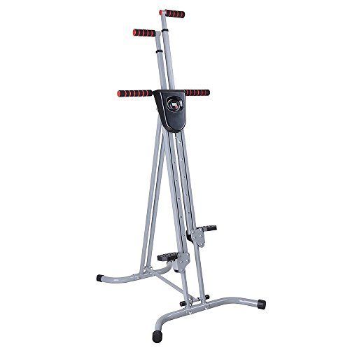 AW Folding Vertical Climber Stepper Exercise Cardio Machine Stair Climber Fitness Gym Workout Equipment Home by AW