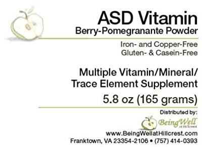ASD Vitamin Berry-Pomegranate Powder for Children with Autism Spectrum Disorder Multiple Vitamin/mineral/trace Element Supplement