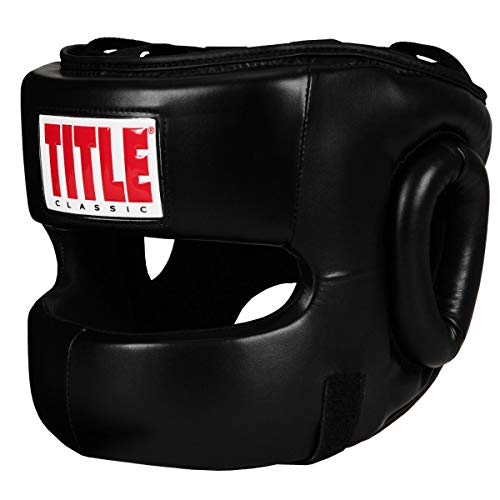 - Title Classic Face Protector Headgear, Black, Adult