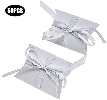 Pasamer 50pcs Caja de Regalo Candy Ribbon Cajas de Papel ...