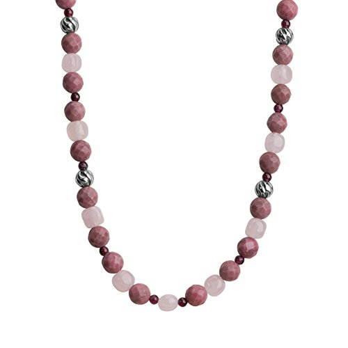 Carolyn Pollack Sterling Silver Shades of Pink Beaded Necklace, 21
