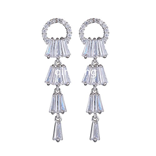 Price comparison product image HBOS Fashion Women Alloy Plated Stud Dangle Earings Eardrop Jewelry