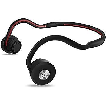 Bone Conduction Headphones, Newest Open Ear Foldable Bluetooth Headset - Black