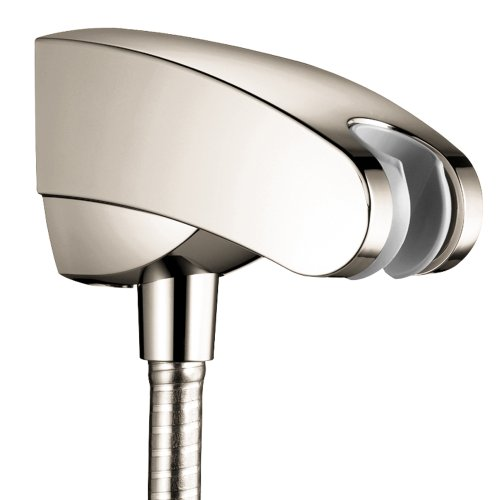 Hansgrohe 27508831 Porter E Holder With Outlet, Polished Nickel