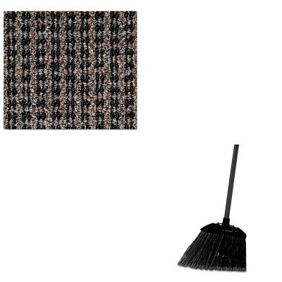 KITCWNOXH035BRRCP637400BLA - Value Kit - Crown Oxford Wiper Mat (CWNOXH035BR) and Rubbermaid-Black Brute Angled Lobby Broom (RCP637400BLA) by Crown