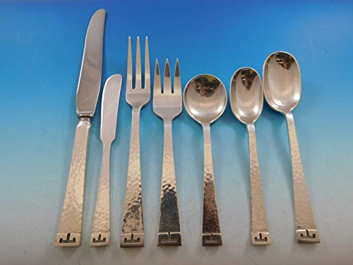 Chinese Key by Allan Adler Sterling Silver Flatware Set Service 72 pcs Dinner (Frank Silver Star)