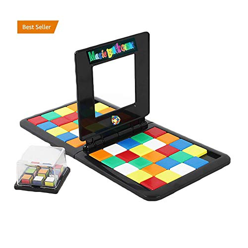 Magic Block Game Kids Colorful Children Educational Puzzle Blocks Table Game, Fine Desktop Game Learning Interactive Gift Family Interaction Children's Baby Puzzle Toy, Play and Learn Two in One Toys (Rubiks Race Board Game)