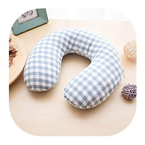 Edomi Buckwheat Neck Pillow, Breathable U Shaped Pillow Ergonomic Travel Head Pillow Cervical Neck Cooling Pillows for Sleeping - Buckwheat Hulls Filling, Double Fabric, Removable Cotton Cover (Blue)