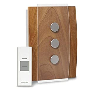 Honeywell RCWL3503A1000/N RCWL3503A1000 Decor Wireless Doorbell/Door Chime and Push Button, Medium, SaddleBrown