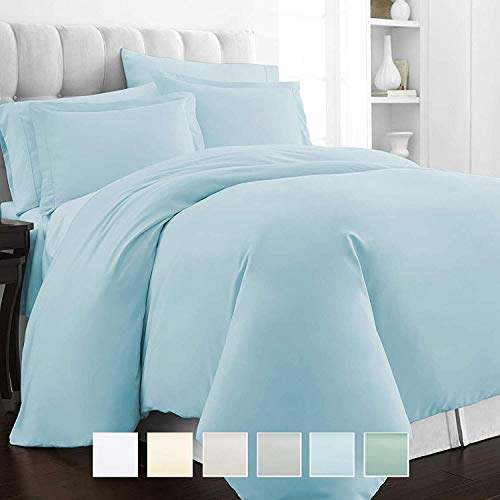 - MP Linen Sheet Set 450 Thread Count 100% Natural Cotton Full-XL Size 4 Piece Bed Sheet Set with 16 Inch Deep Pocket, Hypoallergenic Ultra Soft, Light Blue Solid