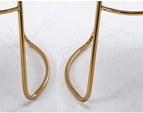 Barkruk Haizhen- Nordic ontbijt kruk - metalen frame fluwelen kussen teller stoel zithoogte 65/70/75cm, 6 kleuren