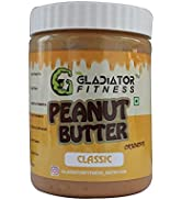 Gladiator Fitness Classic Peanut Butter | High Protein | Zero Cholesterol | Vegan | Gluten Free (...