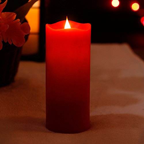 battery candles with timers red - 1