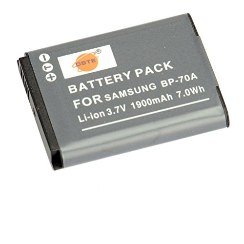 DSTE BP-70A Replacement Li-ion Battery for Samsung ST95 ST100 ST6500 SL50 SL600 TL205 WB30F WB35F DV150F ES65 ES67 MV800 PL80 Camera as EA-BP70A