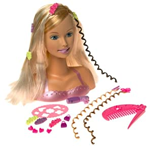 Excellent Amazon Com Barbie Hip Highlights Styling Head Barbie Toys Amp Games Short Hairstyles Gunalazisus