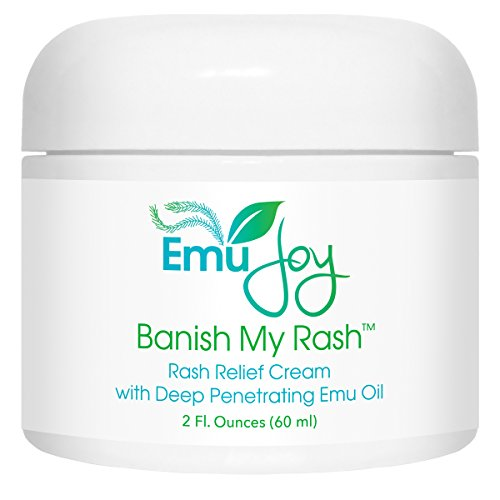 Banish My Rash Cream with Emu Oil - Natural Eczema & Psoriasis Treatment, Dermatitis, Rosacea, Hemorrhoids, Shingles, Lichen (Chamomile Primrose Salve)