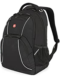 SA6683 Black with Gray Accents Laptop Backpack - Fits Most 15 Inch Laptops and Tablets