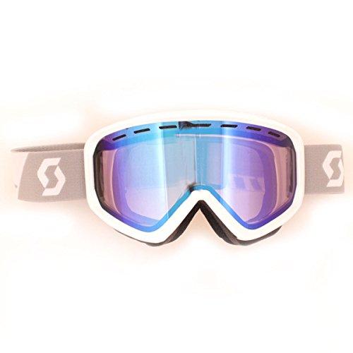 39a46d43a3b Scott Level Winter Snow Goggles - 239993 (White - Illuminator Blue Chrome  Lens)