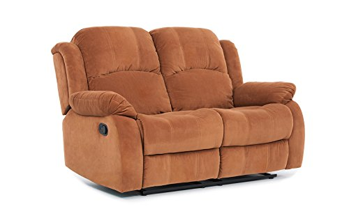 Classic Traditional Brown Microfiber Recliner