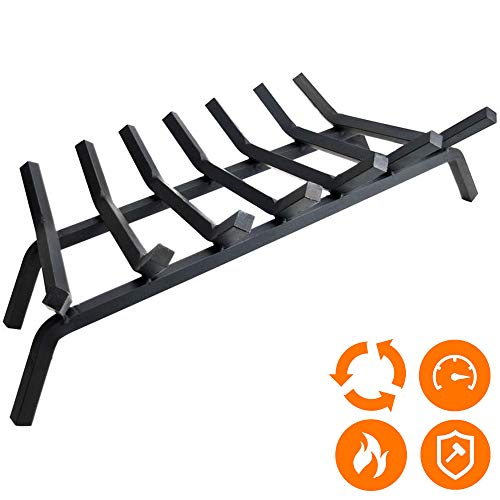 Fireplace Log Grate 30 inch - 7 Bar Fire Grates - Heavy Duty 3/4