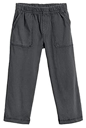 City Threads Little Boys' and Girls' Soft Jersey Tonal Stitch Pant Perfect for Sensitive Skin SPD Sensory Friendly Clothing - Charcoal 2T