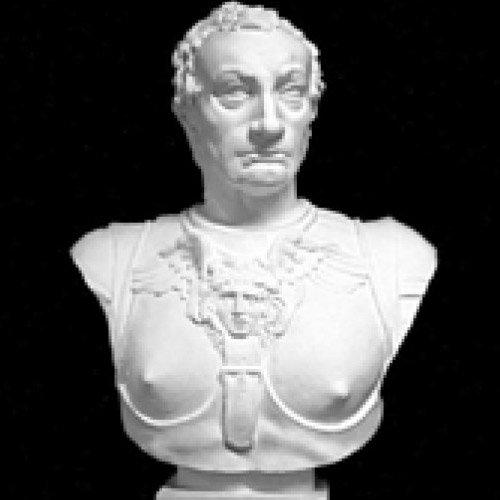 ガッタメラータ胸像(人体石膏像)【参考資料・観賞資料 石膏像】BB12712