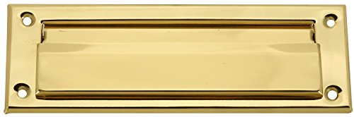 Brass Plated Mail Letter Slot Fits All Wood & Metal Doors 3