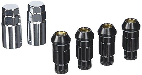 Muteki 32902B Black 12mm x 1.5mm SR48 Open End Locking Lug Nut Set