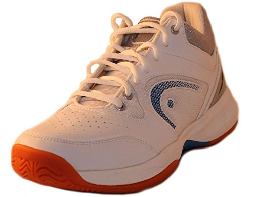 HEAD Men's Sonic 2000 MID Racquetball/Squash Indoor Court Shoes (Non-Marking) (White/Blue) 10.0 (D) US