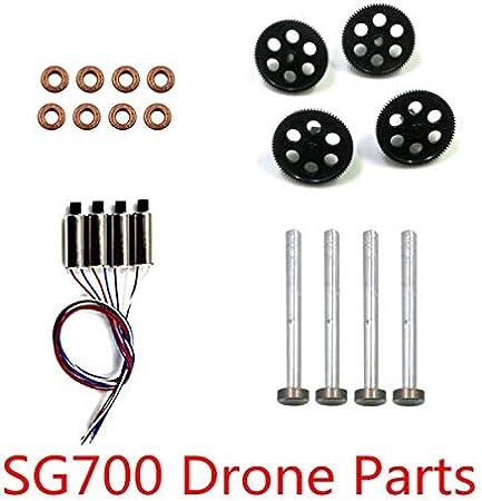 CHENJUAN Plegable Drone Quadcopter Recambio Conjunto de SG700 DM107S Motor Motor Motor A B Hierro Eje del Engranaje Accesorios for rodamientos Piezas de Repuesto