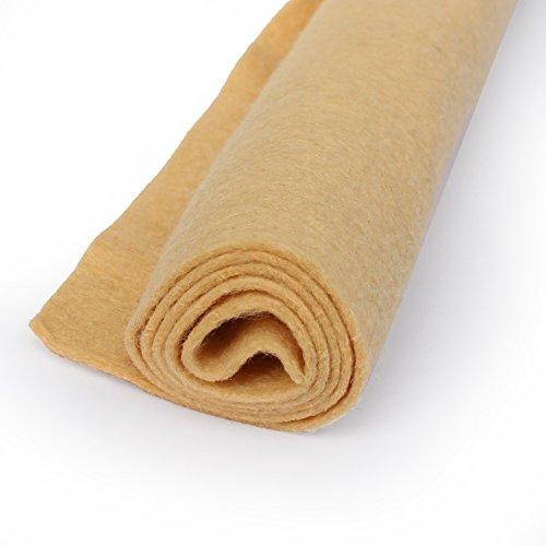 Beach Sand - Wool Felt Oversized Sheet - 35% Wool Blend - 3 12x18 inch - Blend Wool Sand