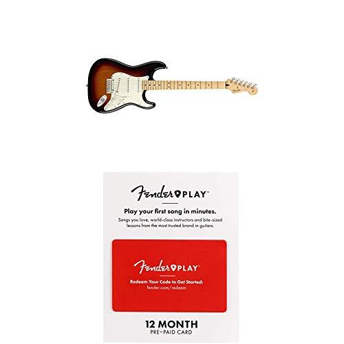 Fender Player Stratocaster Electric Guitar - Maple Fingerboard - 3 Color Sunburst with Fender Play (Fender Modern Player Hsh Stratocaster Electric Guitar)