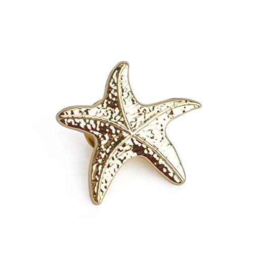 - (Price/25PCS) ALICE 3D Cast Starfish Lapel Pins,1
