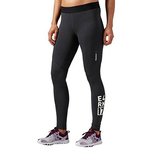Reebok Pantalón de entrenamiento Mujer One Series Quik Cotton Compression Mallas Gris - carbón